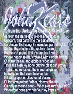 "Poem in Art: ""Where happy spirits, crown'd with circlets bright / Of starry beam, and gloriously bedight"" - John Keats"