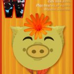 """Fun Card: """"I am fond of pigs. Dogs look up to us. Cats look down. Pigs treat us as equals."""" - Sir Winston Churchill"""